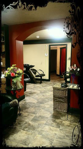 Interior of Imagine That Salon